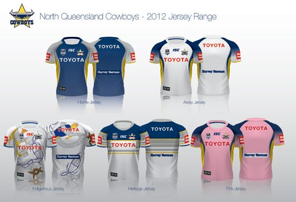 NRL Jerseys 2012 North Queensland Cowboys
