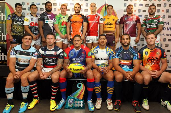 All NRL Nines Jerseys 2014 Dick Smith Launch Sydney