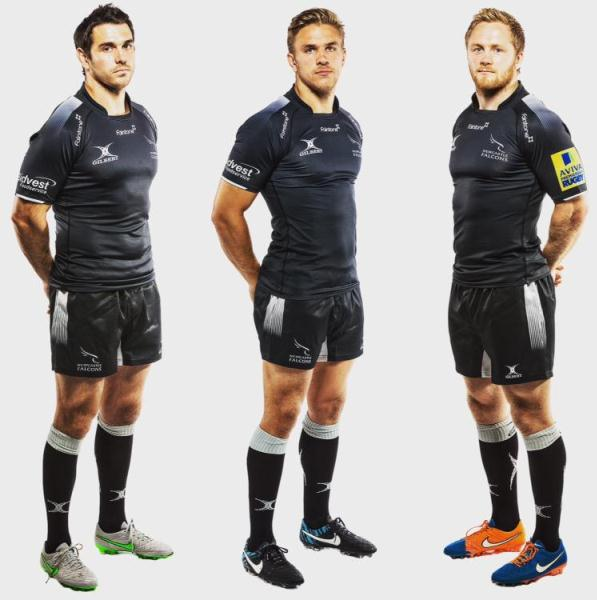 Leinster Rugby Season 2014 15 So Far: Gilbert Newcastle Falcons Kit 2015-16 New Falcons Rugby