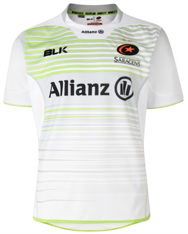 New Saracens Rugby Away Shirt 2017 2018