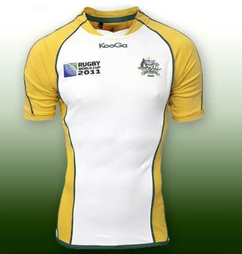 White 2011 Wallabies World Cup Jersey