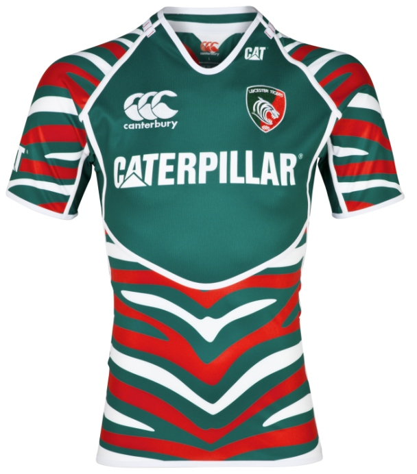 2a68135b788 New Canterbury Leicester Tigers Kit 2012-2013- Tigers Home Shirt 12 ...