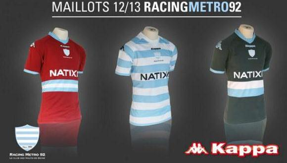 New Racing Metro 92 Rugby Jersey