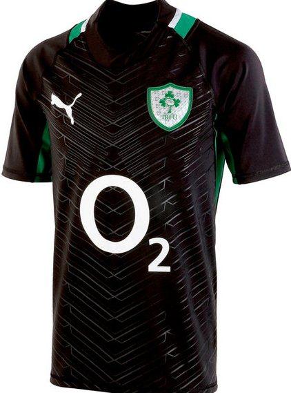 New Black Ireland Rugby Jersey 2013