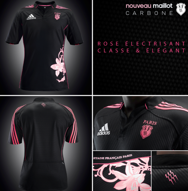 Black Stade Francais Rugby Jersey
