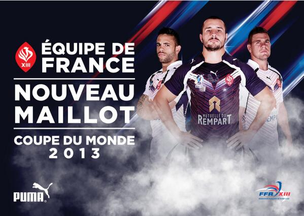 France Rugby League Shirt 2013 World Cup