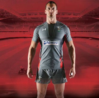 Grey Wales Rugby Shirt 2014