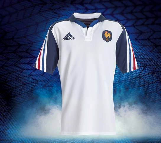 White France Away Rugby Jersey 2014