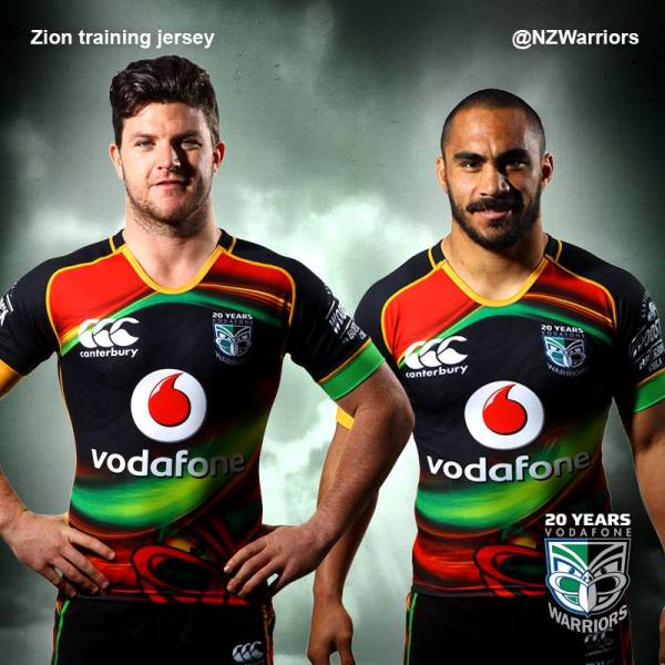 timeless design 2ec75 732eb NZ Warriors Training Jersey 2015- New NZ Warriors Reggae ...