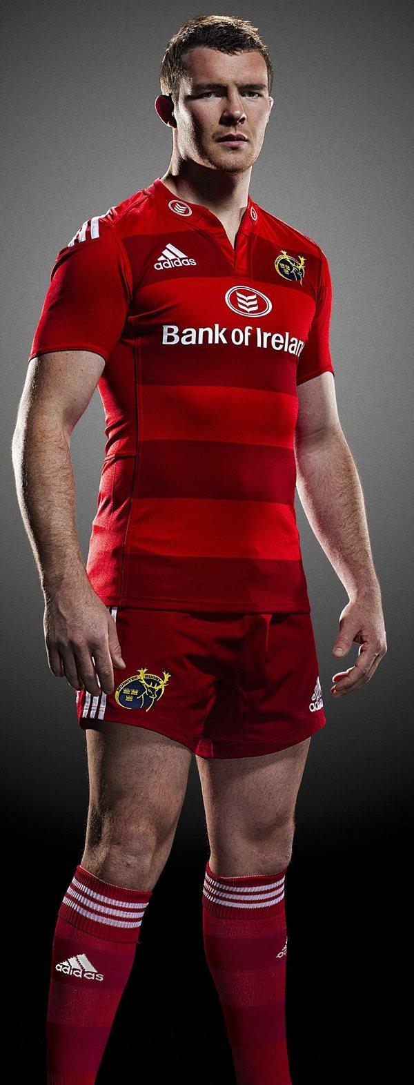 Confrontar Escéptico Ejército  New Munster European Jersey 2014/15- Adidas Red Munster ERC Shirt ...