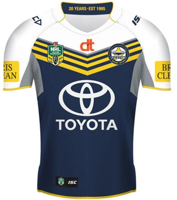 North Queensland Cowboys 2015 Jersey- ISC New NQ Cowboys Home Away ...