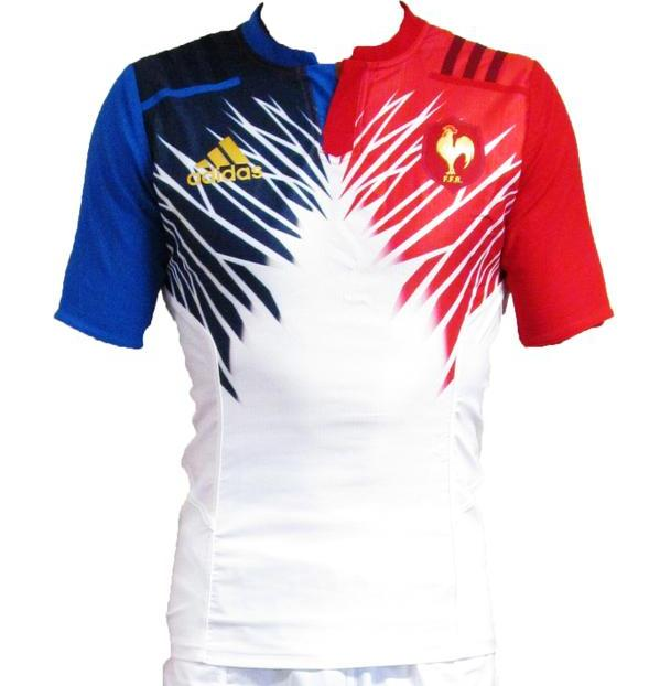 white france 7 39 s away kit 2015 adidas french alternate sevens shirt 2015 new rugby kits. Black Bedroom Furniture Sets. Home Design Ideas