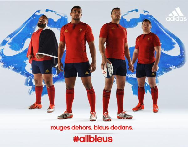 Red France Rugby Shirt 2015
