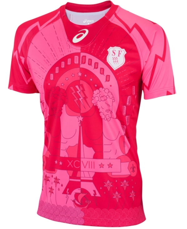 Stade Francais Away Rugby Shirt 2015 16