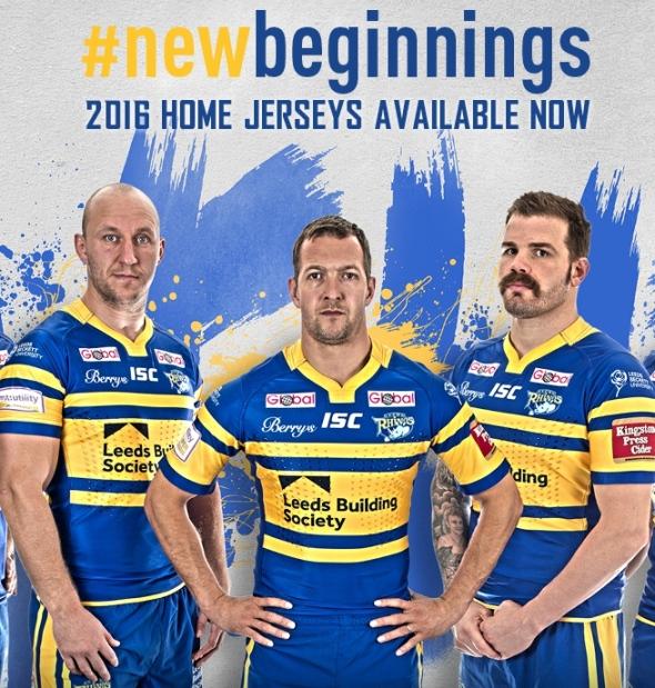 c6f4556b85e New Leeds Rhinos Kit 2016- ISC Rhinos 2016 Home Shirt | New Rugby Kits
