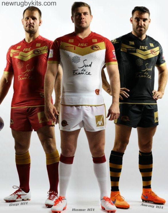 f8e024c96 New Catalans Dragons Shirt 2016- ISC Dragons Catalans Kits Home Away ...