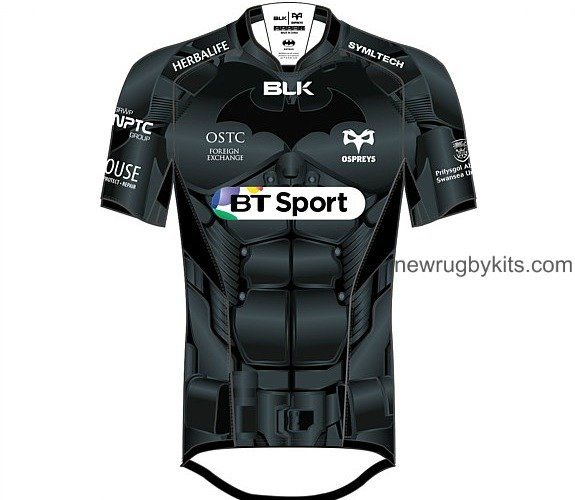 Ospreys Rugby Batman Shirt 2015