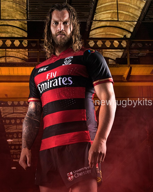 Red Wire Rugby League Shirt
