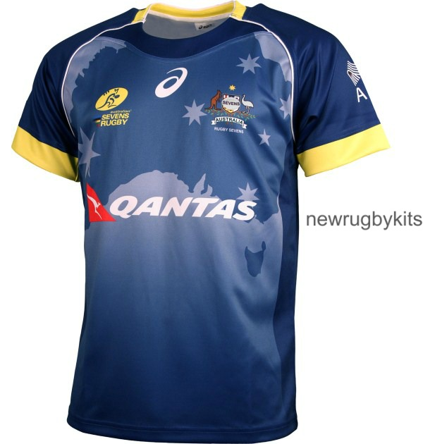New Australia Sevens Rugby Jerseys 2016 Asics Home Away 7s Kits