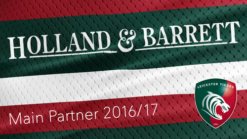 Holland and Barrett Leicester Tigers Sponsorship