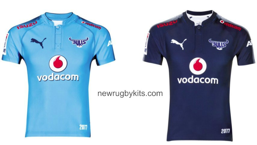 c2b95ec0d43 Blue Bulls New Jersey 2017- Bulls Super Rugby Kits 2017 Home Away ...