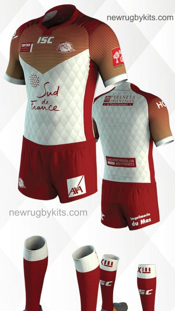 ca8ef971d New Dragons Catalans Shirt 2017- ISC Catalan Dragons Kits 2017 Home ...