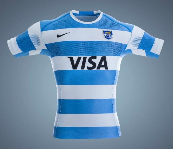 Cantidad de dinero tonto medios de comunicación  New Argentina Rugby Shirt 2017-2018 | Nike Los Pumas Rugby Championship  Kits 2017-18 Home Away | New Rugby Kits
