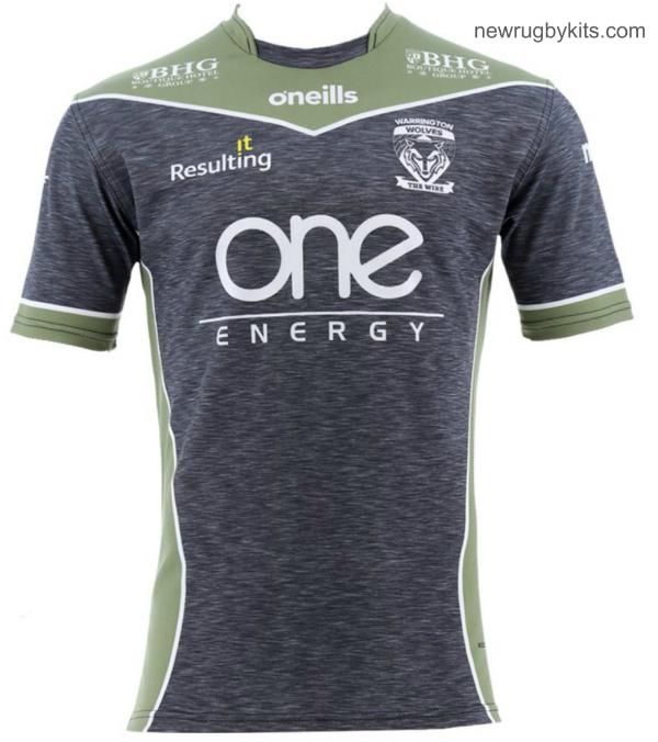 Grey Warrington Wolves Shirt 2019 Away