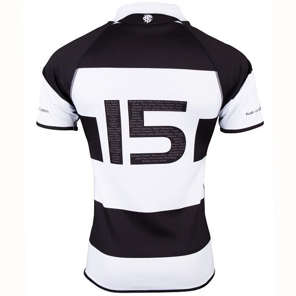 Back of Barbarians Rugby Shirt 2018 Gilbert