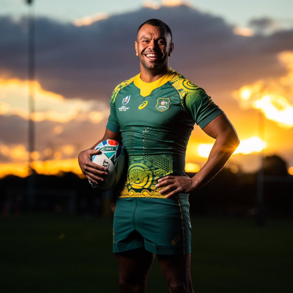New Australia Away Rugby World Cup Kit Indigenous 2019