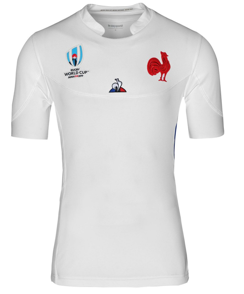 White France Away Rugby World Cup Kit 2019