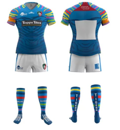 Blue Leicester Tigers Away Shirt 20-21